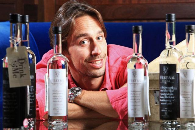 William Borrell, founder of Vestal Vodka. Ld