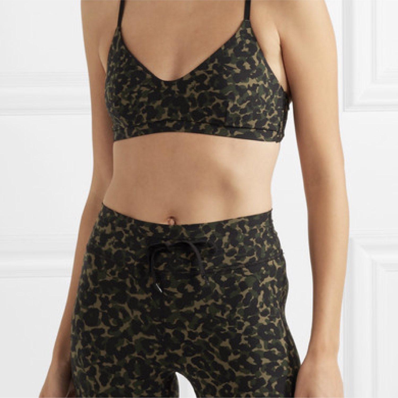 1f5c6c66da96e The Upside Zoe leopard-print stretch sports bra