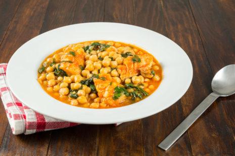 Mediterranean fish and chickpea stew
