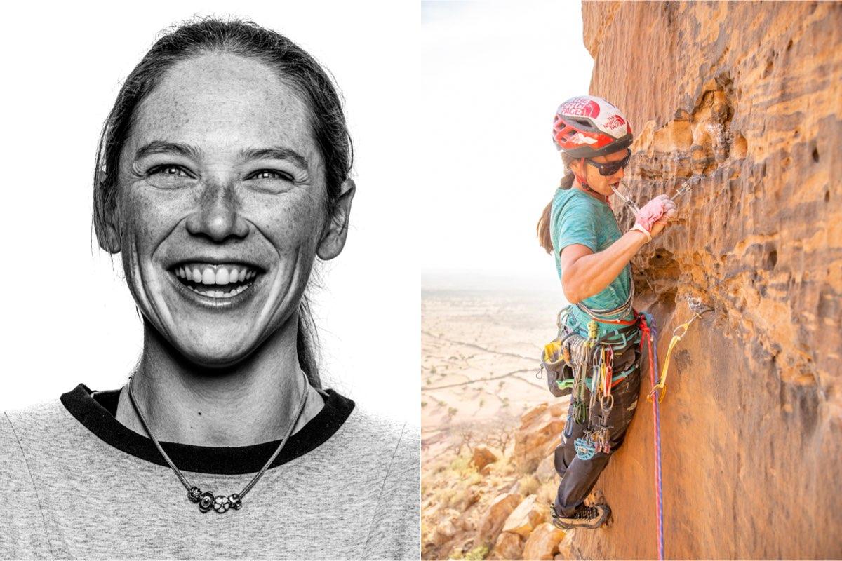 Caroline Ciavaldini climbing
