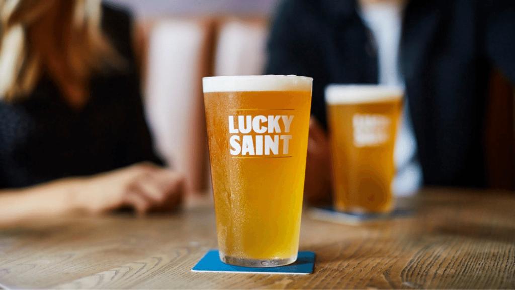 lucky saint non-alcoholic beer