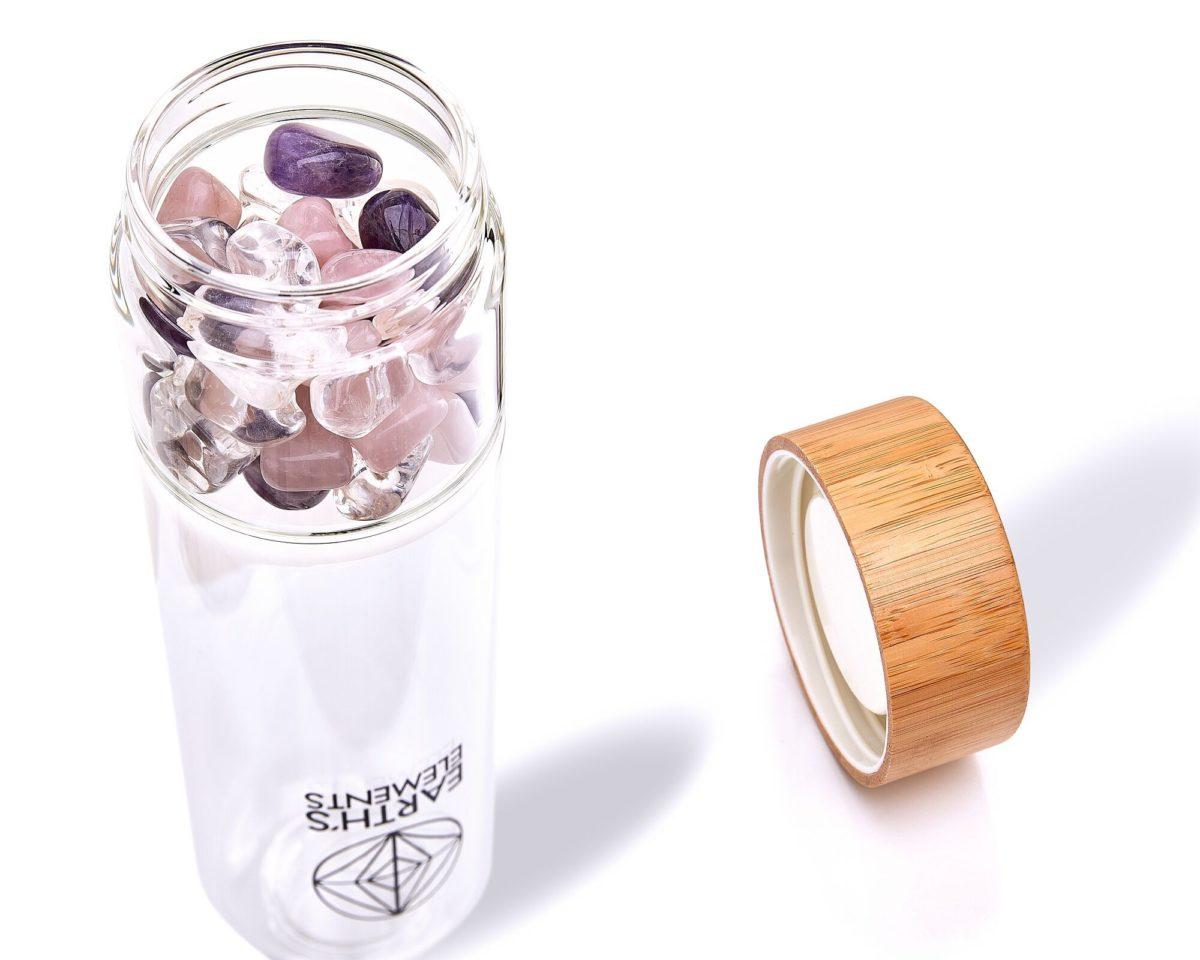 Earth Elements Crystal Water Bottle