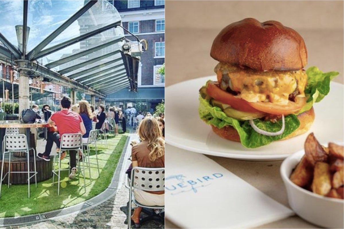The Bluebird, London outdoor restaurant