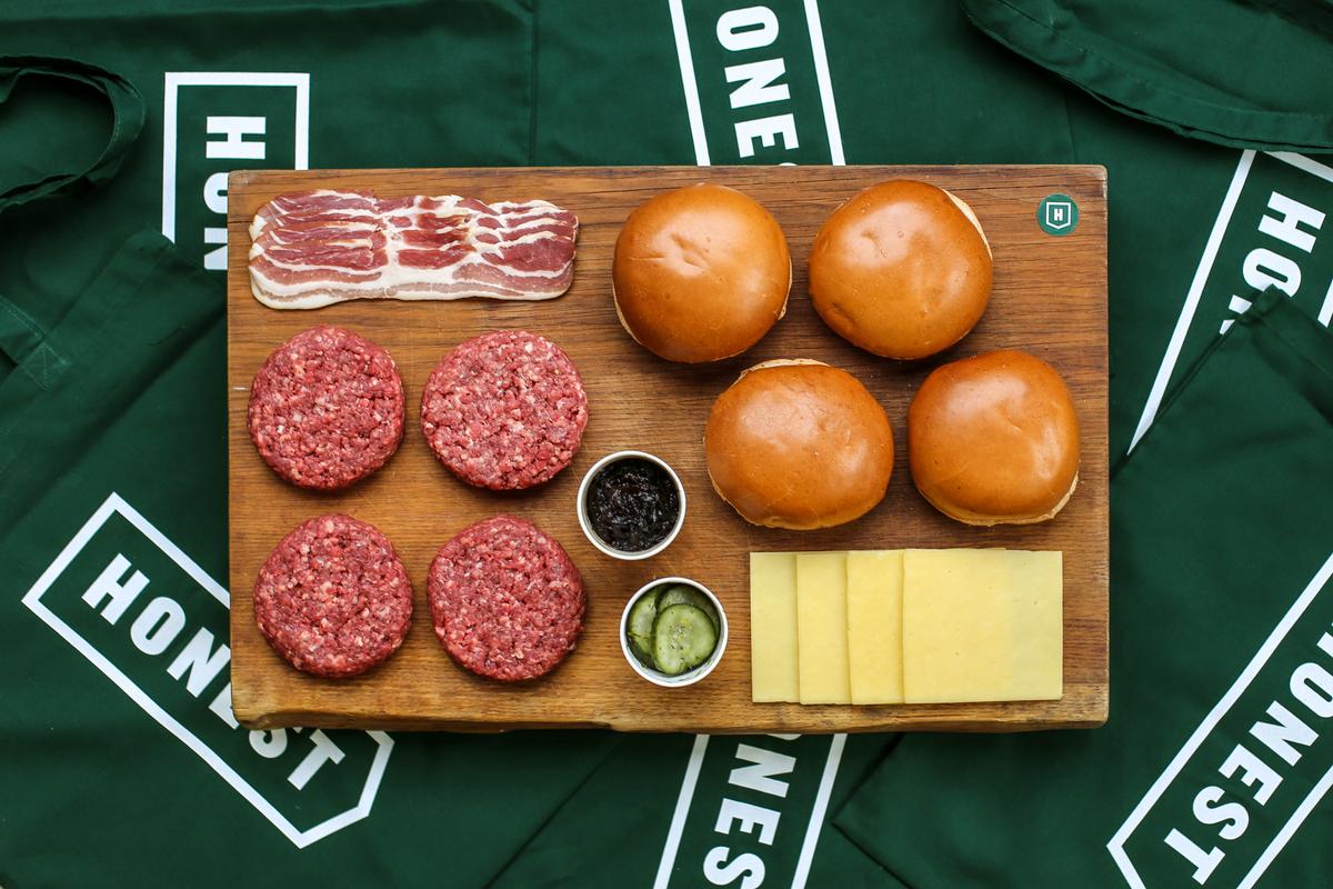 meal kit from Honest Burger